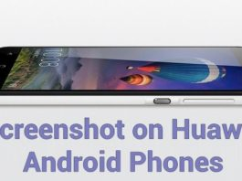 Screenshot on Huawei Phones