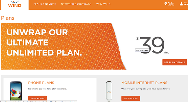 Wind Mobile Plans