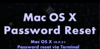 Change Mac OS X Account Password