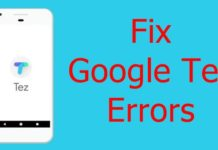 Fix Google Tez Errors