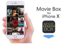 Moviebox on iPhone X