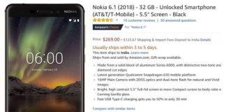 Nokia 6.1 Amazon