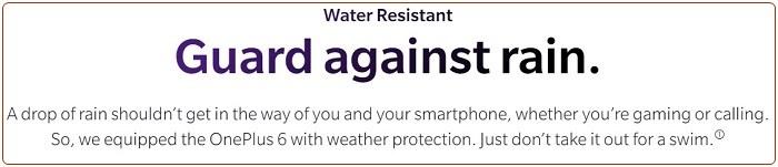 OP6 waterproof