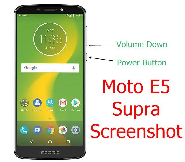 Moto E5 Supra Screenshot