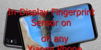 in-Display Fingerprint Sensor Xiaomi Phone