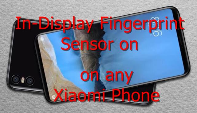 in-Display Fingerprint Sensor Xiaomi Phone