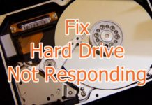 Fix Hard Drive Not Responding Error