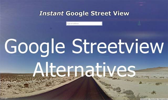 Google Streetview Alternatives