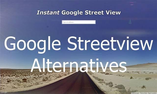 Google Streetview Alternatives
