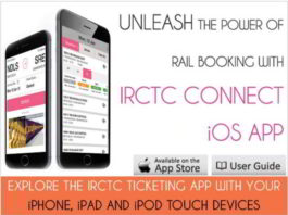 IRCTC App for iPhone; IRCTC App for iPad