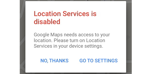 Location Service is Disabled