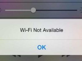 WiFi Not Available iPhone