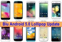 Blu Android 5.0 Lollipop Update