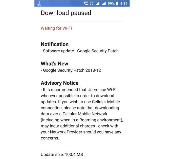 Nokia 8 update