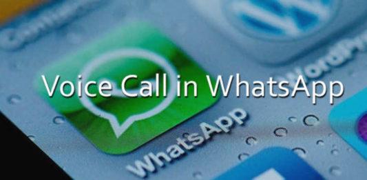 Voice Call in WhatsApp