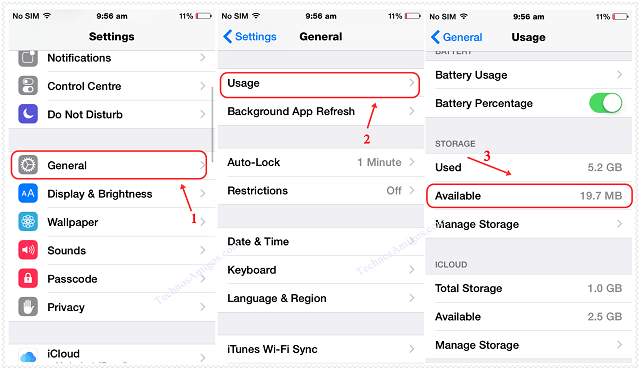 Apple iPhone Storage Usage