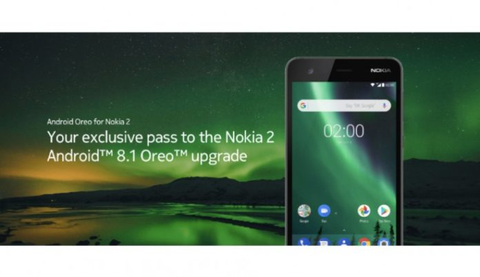 Nokia 2 Android 8.1 Oreo update