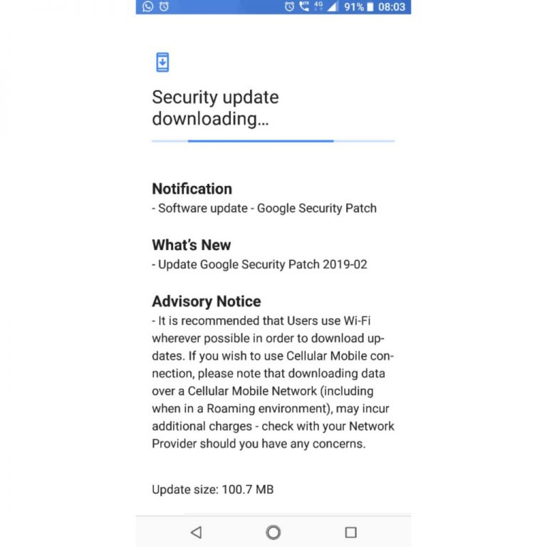 Nokia 5.1 February Security patch 2019
