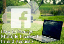 Manage multiple facebook friends requests