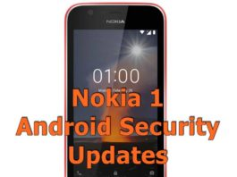 Nokia 1 Android Security updates