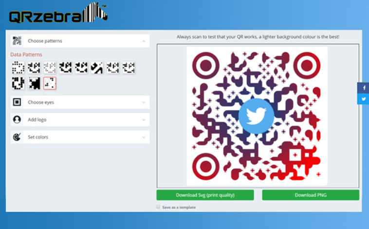 QRZebra qr scanning website