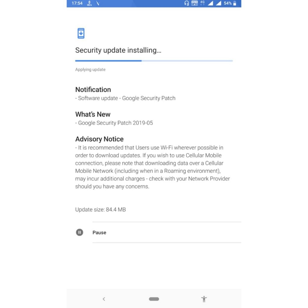 Nokia 6.1 May 2019 security update
