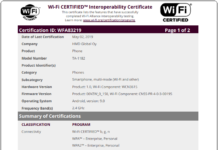 Nokia TA 1182 wifi certification