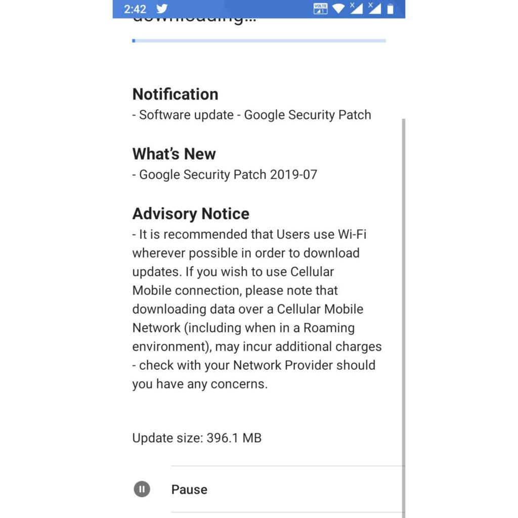 Nokia 5 2017 July 2019 security patch update