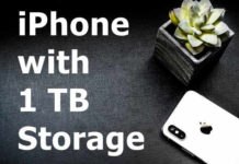Apple iPhone with 1 TB Storage