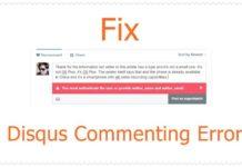 Fix Disqus Commenting error