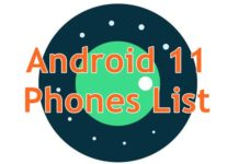 Android 11 Mobile Phones List